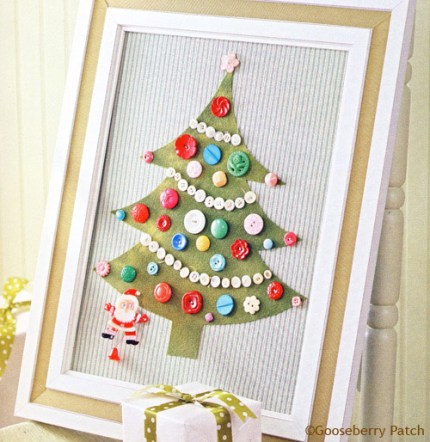 Framed Button Tree