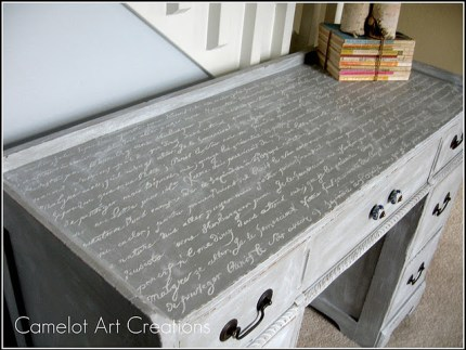 French Script Desk
