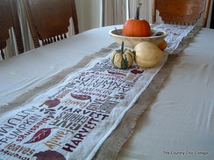 Subway Art Table Runner