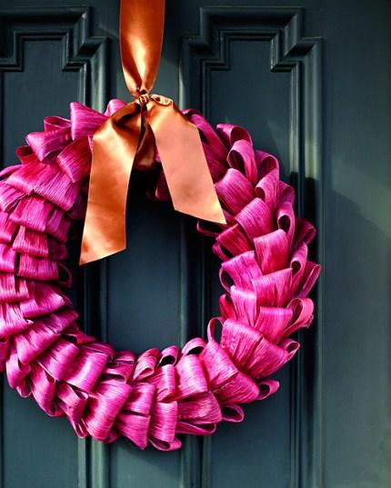Vibrant Cornhusk Wreath