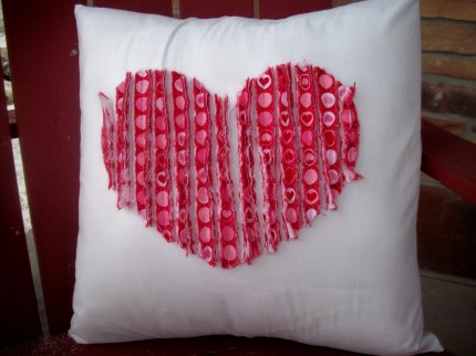Faux Chenille Valentine Pillow