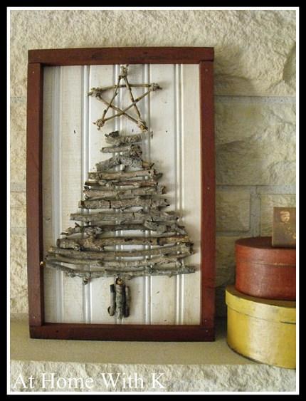 Twig Christmas Tree Art