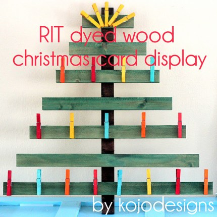 Wooden Christmas Card Display