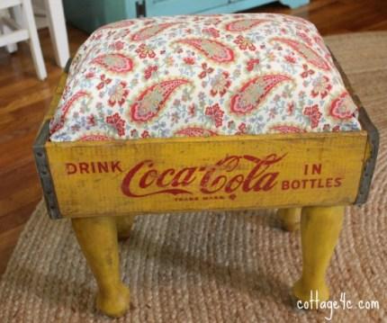 Vintage Coca Cola Crate Footstool