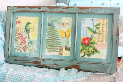 Vintage Prints in an Old Window
