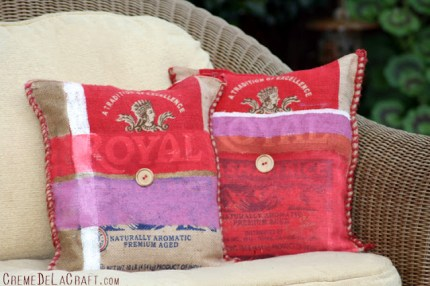 Burlap Rice Sack Pillows
