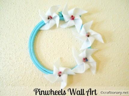 Felt Pinwheels Wall Art
