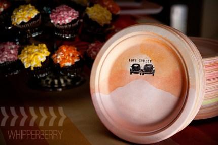 Dip Dye Ombre Plates