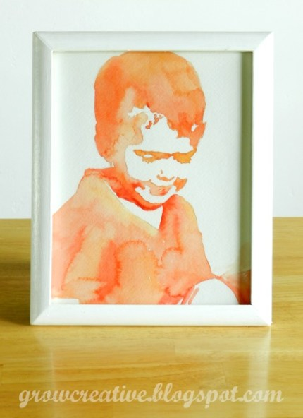 DIY Watercolor Portraits