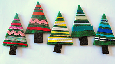 Ribbon Felt Trees