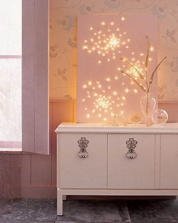 Lighted Snowflake Canvas