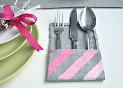 Ombre Silverware Pocket