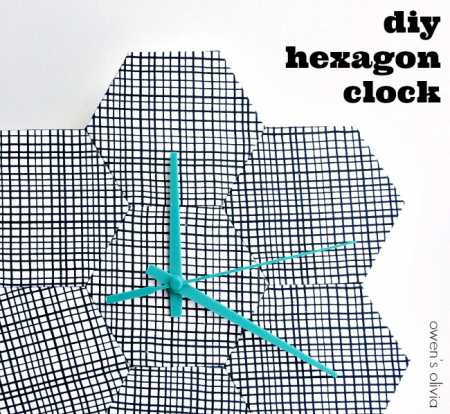 diy-hexagon-clock