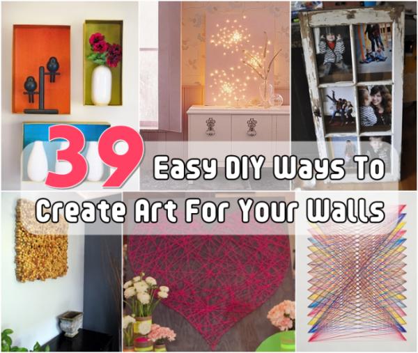 Easy DIY Wall Art Home And Garden