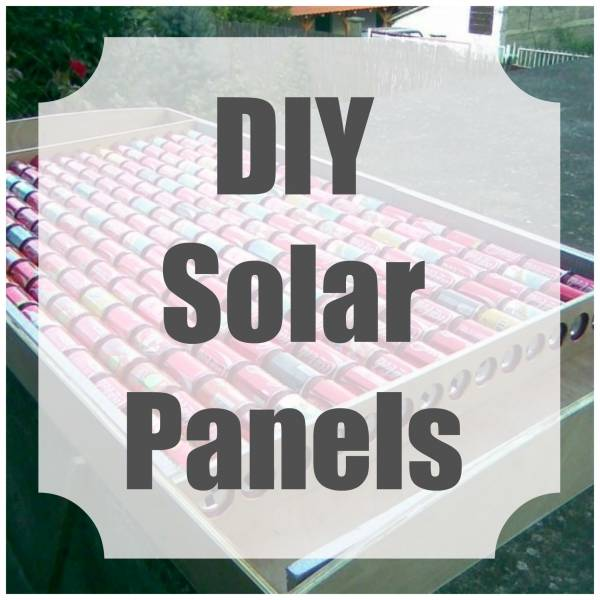 Make your own solar panels from soda cans home and garden for Make your own solar panels with soda cans