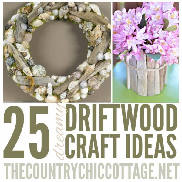 25 gorgeous crafts to make with driftwood home and garden for Craft ideas for driftwood