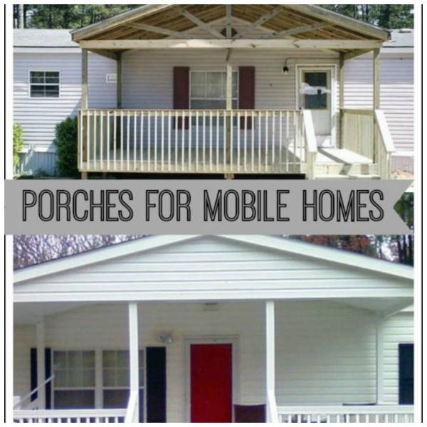 9 beautiful manufactured home porch ideas home and garden for Mobile home with wrap around porch