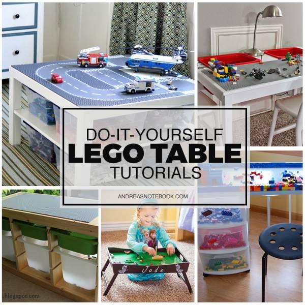 Lego table tutorials you can make yourself home and garden for Lego diy