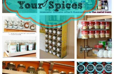 How do you keep your spice cupboard organized?