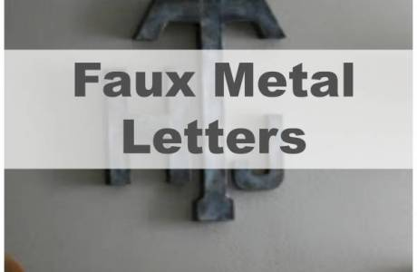Making Metal Letters That Aren't Actually Metal