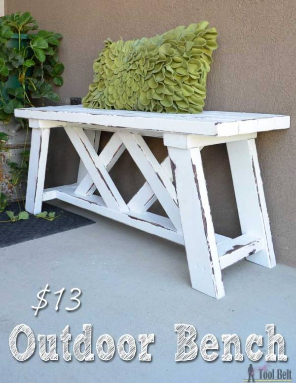 How to build an outdoor bench for 13 home and garden for Diy garden table designs