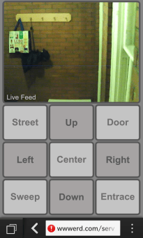 Homemade IP Camera phone controller