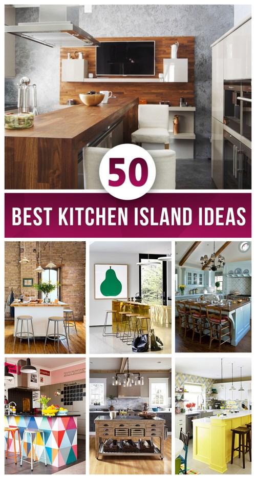 Medium Of Island For Kitchens