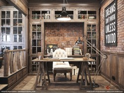 Small Of Rustic Home Office