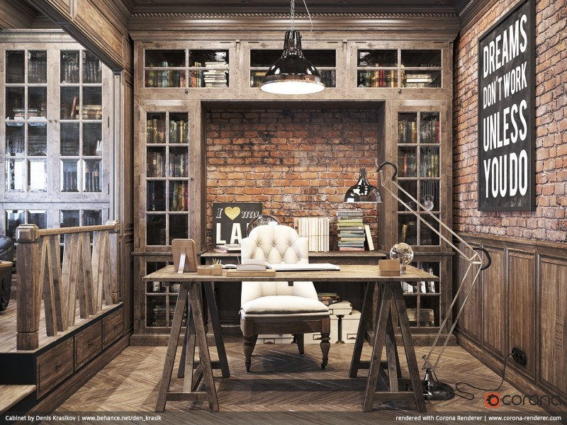 Large Of Rustic Home Office