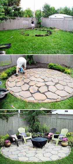 Soothing Freestanding Circular Stone Island Diy Backyard Projects And 2018 Easy Backyard Landscaping Projects Diy Backyard Landscaping Projects