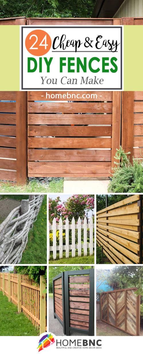 Medium Of Build Backyard Fence