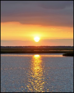 Sunset from marshlands
