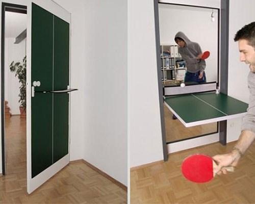 convertible ping pong doors