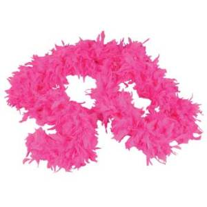 Pink Feather Boa small