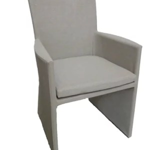 light gray fabric armchair