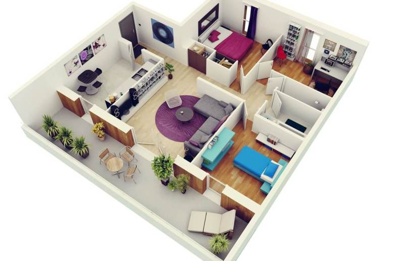 Large Of Small Apartment Design Floor Plan