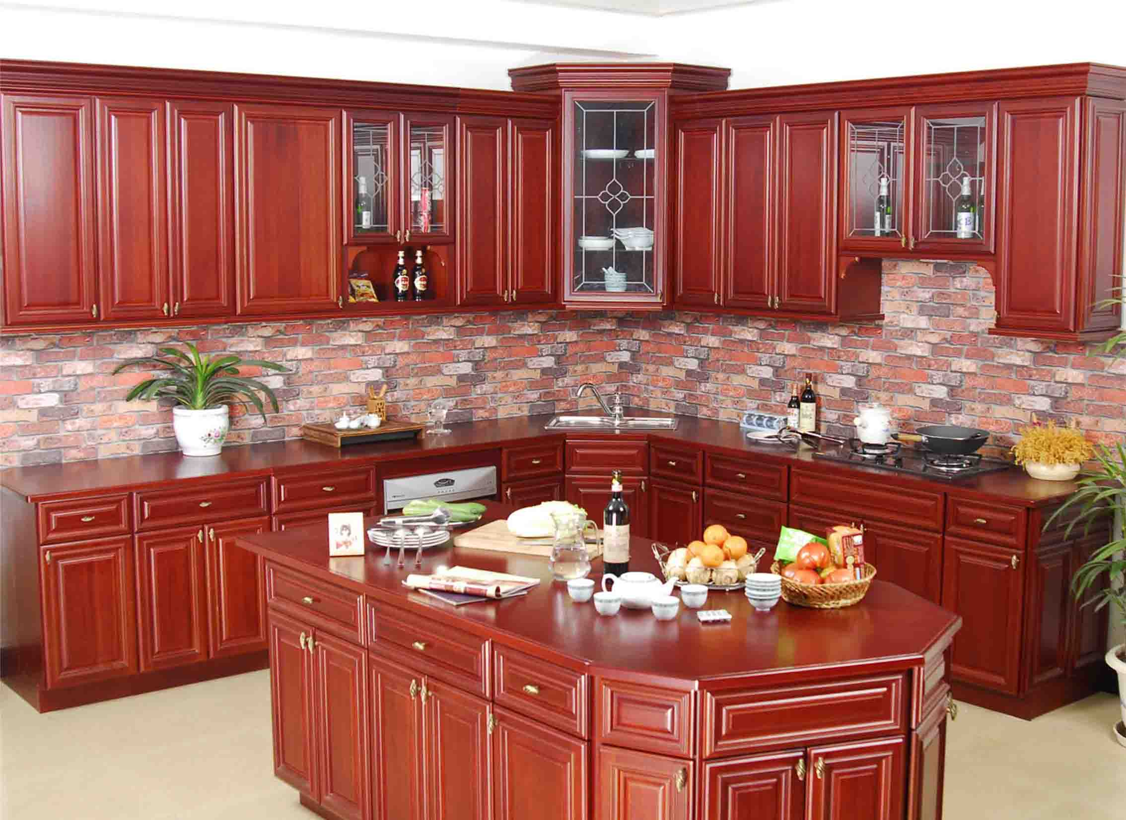 interior furniture kitchen cabinet outlet traditional reddish brown polished oak cabinets solid wooden kitchen s to go buy online shopping cabinet companies all wood cabinet