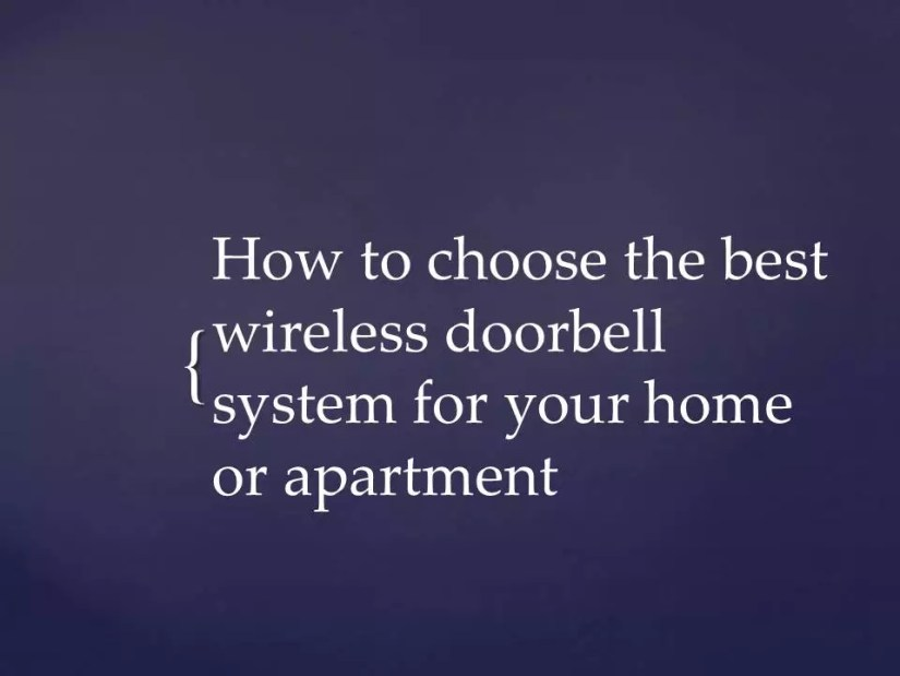 wireless doorbell system