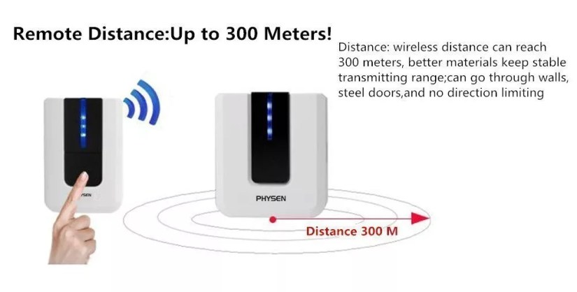 Physen Europe Style Piano Wireless Doorbell kit