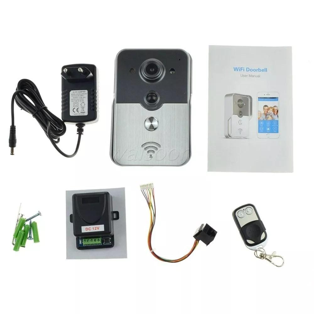 powerlead pl db020 wifi ip camera wireless video doorbell. Black Bedroom Furniture Sets. Home Design Ideas