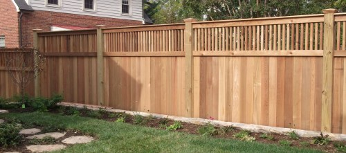 Medium Of Backyard Fence Idea