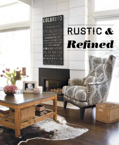 Home Decor: Rustic and Refined Home - Home is Here