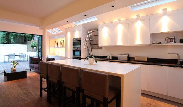 ledlighting highlights a modern open kitchen led lighting b