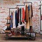 Industrial Garment Rack by stellableudesigns 2