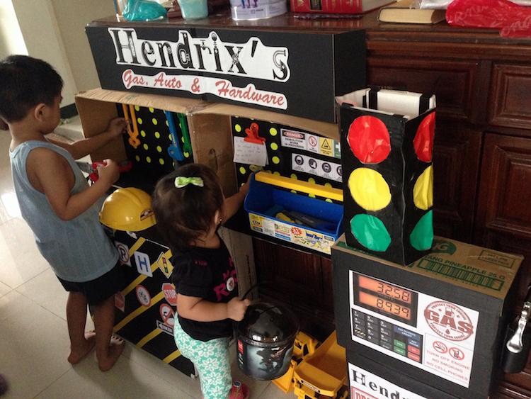 DIY Cardboard Contruction and Mechanics Playset08