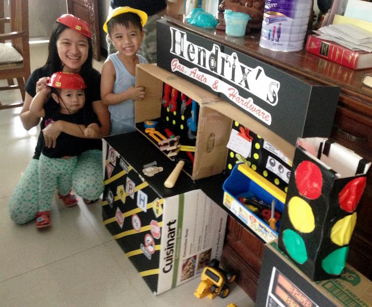 DIY Cardboard Contruction and Mechanics Playset09