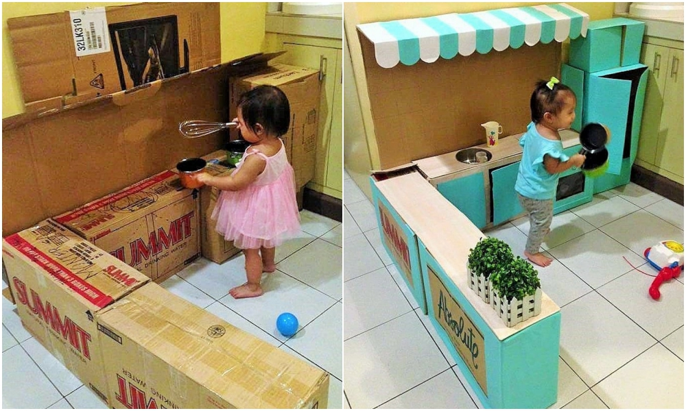 DIY Cardboard Kitchen Cafe Pantry Playset24