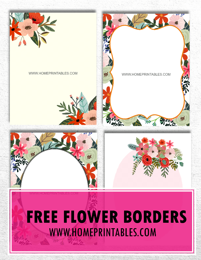Free Flower Border: 8+5 Unique & New Designs!