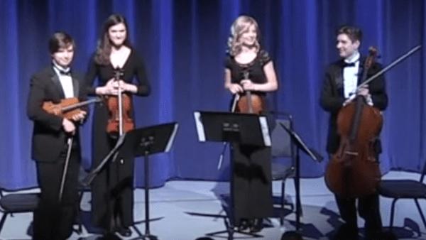 Juliette, Zachary, Kaylee and Luke: Four Homeschool Graduates in the University of Mary Washington String Quartet