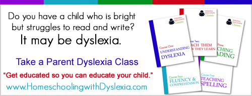 Dyslexia Training Classes from Homeschooling with Dyslexia